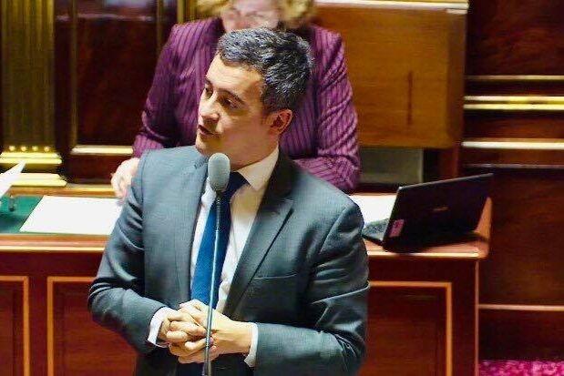 Gérald Darmanin au sénat en janvier 2019