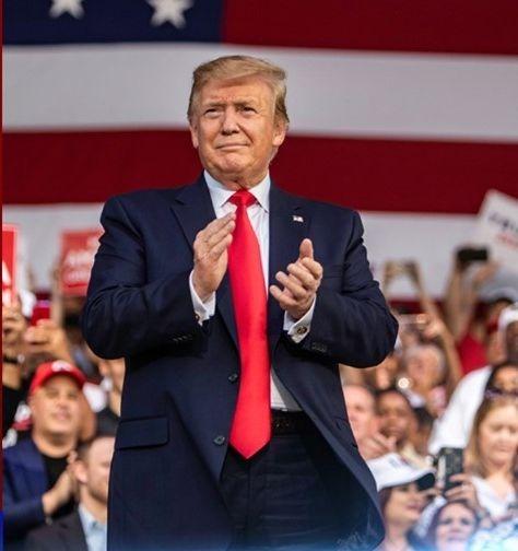 Donald Trump lors d'une cérémonie en mai 2019