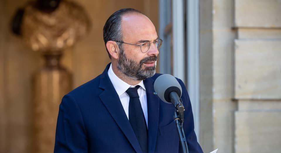 Edouard Philippe, lors de la présentation du plan pour le tourisme, en mai 2020.