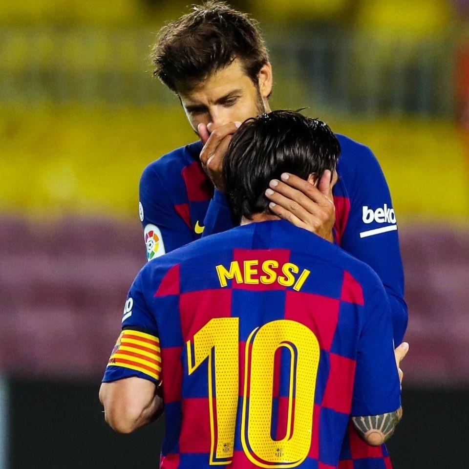 Lionel Messi et Gerard Piqué.